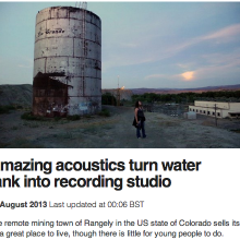 BBC:  Amazing acoustics turn water tank into recording studio