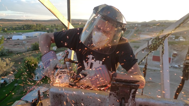 Peter Brixius works atop The TANK